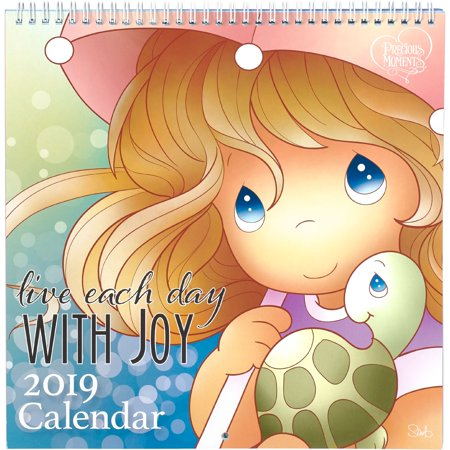 Precious Moments 2019 Illustrated Live Each day With Joy Paper Wall Calendar 181422