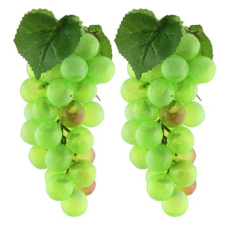 Grape Kitchen Decorations - Home Table Decoration Plastic Craft Simulation Artificial Fruit Grape Green 2pcs