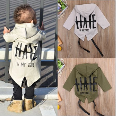 Newborn Baby Boys Kids Windbreaker Outwear Coat Winter Jacket Overcoat