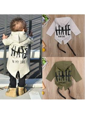 Newborn Baby Boys Kids Windbreaker Outwear Coat Winter Jacket Overcoat Clothes