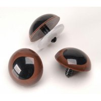Darice Animal Brown Eyes with Plastic Washers, 18mm, 50 Pairs