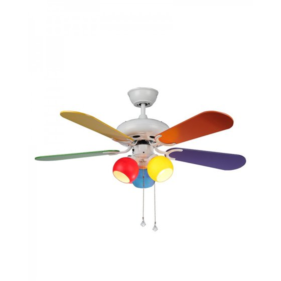 Modern Multi Color Ceiling Fan With 3 Colorful Lights