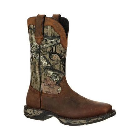 durango western boots mens deer skull waterproof leather brown ddb0058 (Durango Brown Leather)
