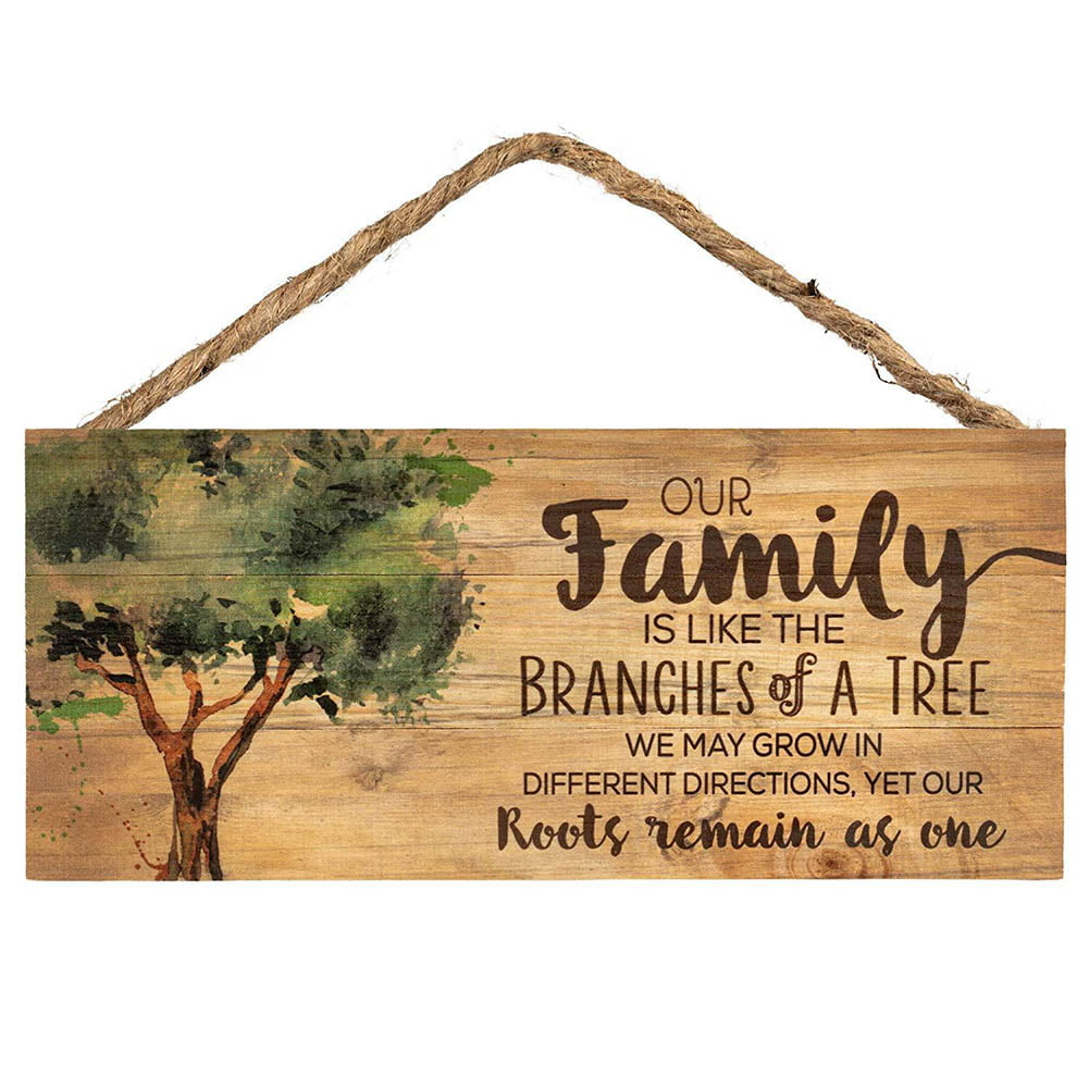 Roots /& Shoots Metal Hanging Flower Welcome Sign Plaque