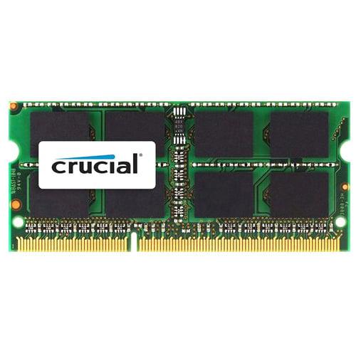 Crucial 4GB DDR3 SDRAM Memory Module - 4 GB (1 x 4 GB) - DDR3 SDRAM - 1066 MHz DDR3-1066/PC3-8500 - 1.50 V - Non-ECC - Unbuffered - 204-pin - SoDIMM