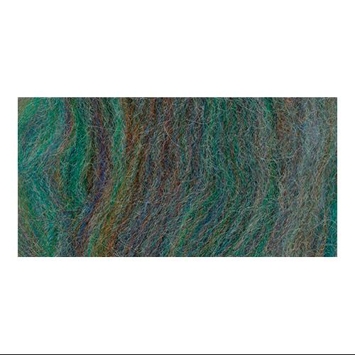 """Wool Roving 12"""" .22 Ounce-Blue Green Variegated"""