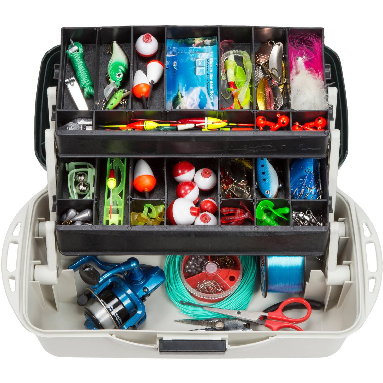 "Wakeman Fishing 2-Tray Tackle Box Organizer 14"" by Trademark Global LLC"