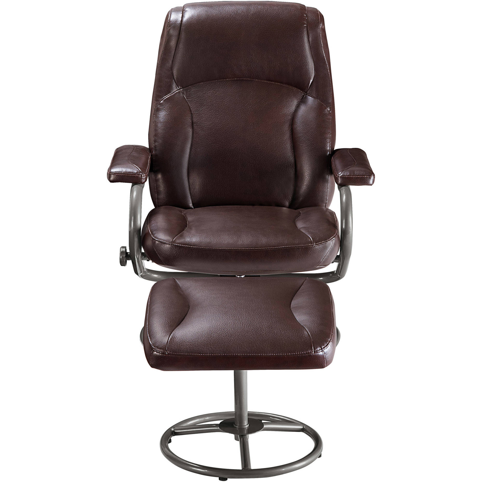 Recliner With Ottoman Leather Home Design Ideas