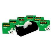 """Scotch Magic Tape Value Pack, 3/4"""" x 1000"""", 6 Rolls, 1 Dispenser"""