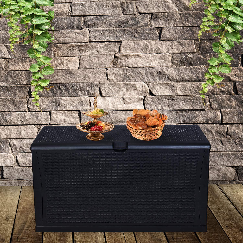 Ainfox 120 Gallon Patio Storage Deck Box Outdoor Storage