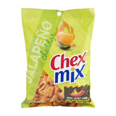 (2 Pack) Chex Mix Jalapeno Cheddar Snack Mix, 8.75 oz - Chex Mix Halloween Recipe