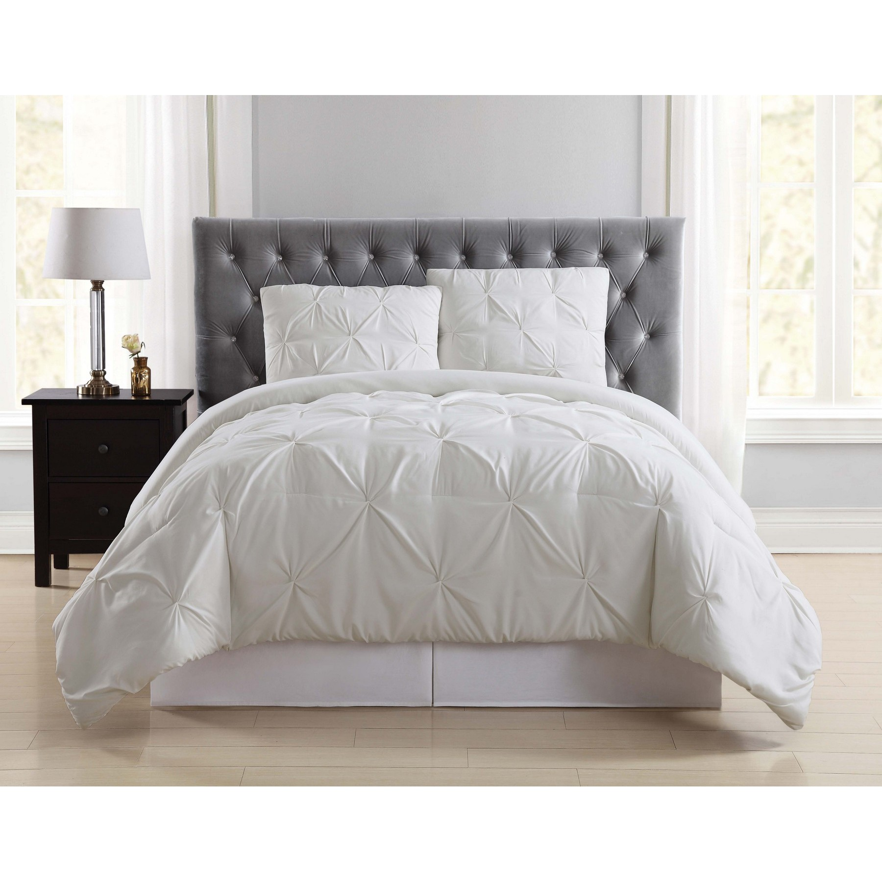 Truly Soft Pleated Blush Twin XL Comforter Set