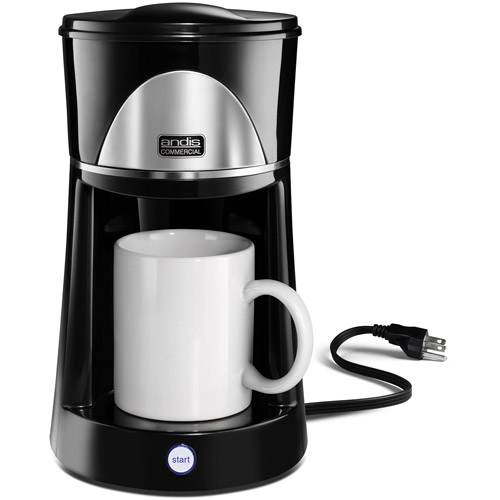 Andis 12 oz 1-Cup Coffee Maker, 60980, Black