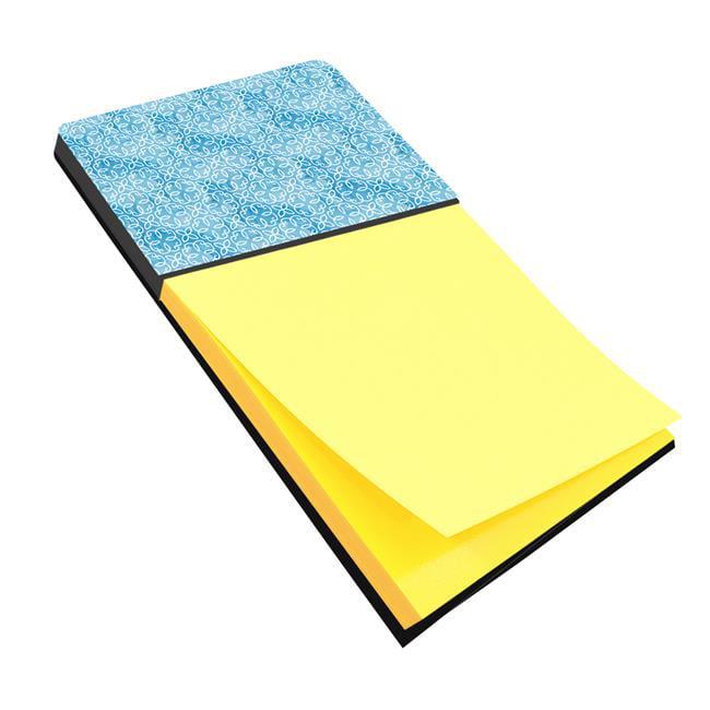 Watercolor Geometric Cirlce on Blue Sticky Note Holder - image 1 de 1