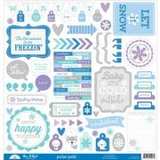 Polar Pals This & That Sticker Sheet - Doodlebug