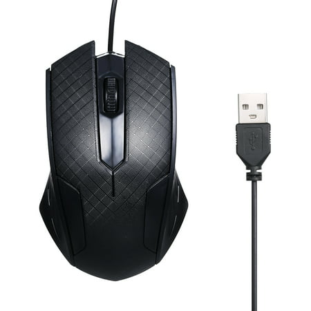 3-Button USB Optical Wired Mouse with 1.1M Cord Compatible with Windows 7/8/10/XP MacOS - image 7 of 7