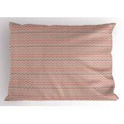 Chevron Pillow Sham, Optical Illusion Design Geometric Colorful Line Arrangement Chevron Zigzag Pattern, Decorative Standard Size Printed Pillowcase, 26 X 20 Inches, Multicolor, by Ambesonne