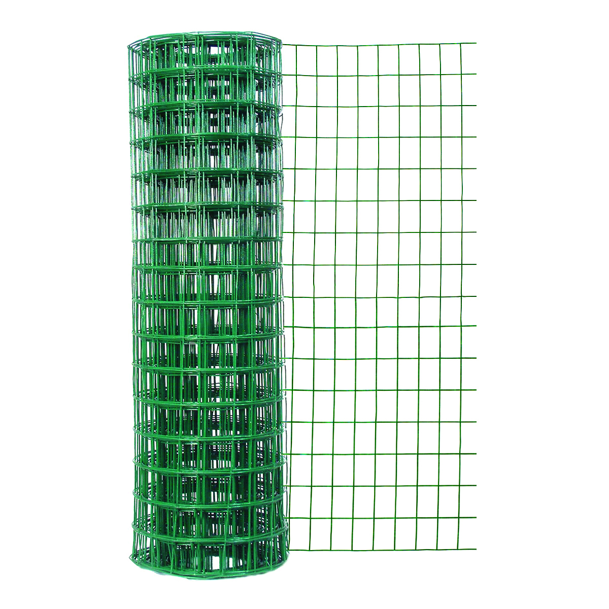 24in H x 50ft L Green Vinyl Garden Fence with 2in x 3in Mesh
