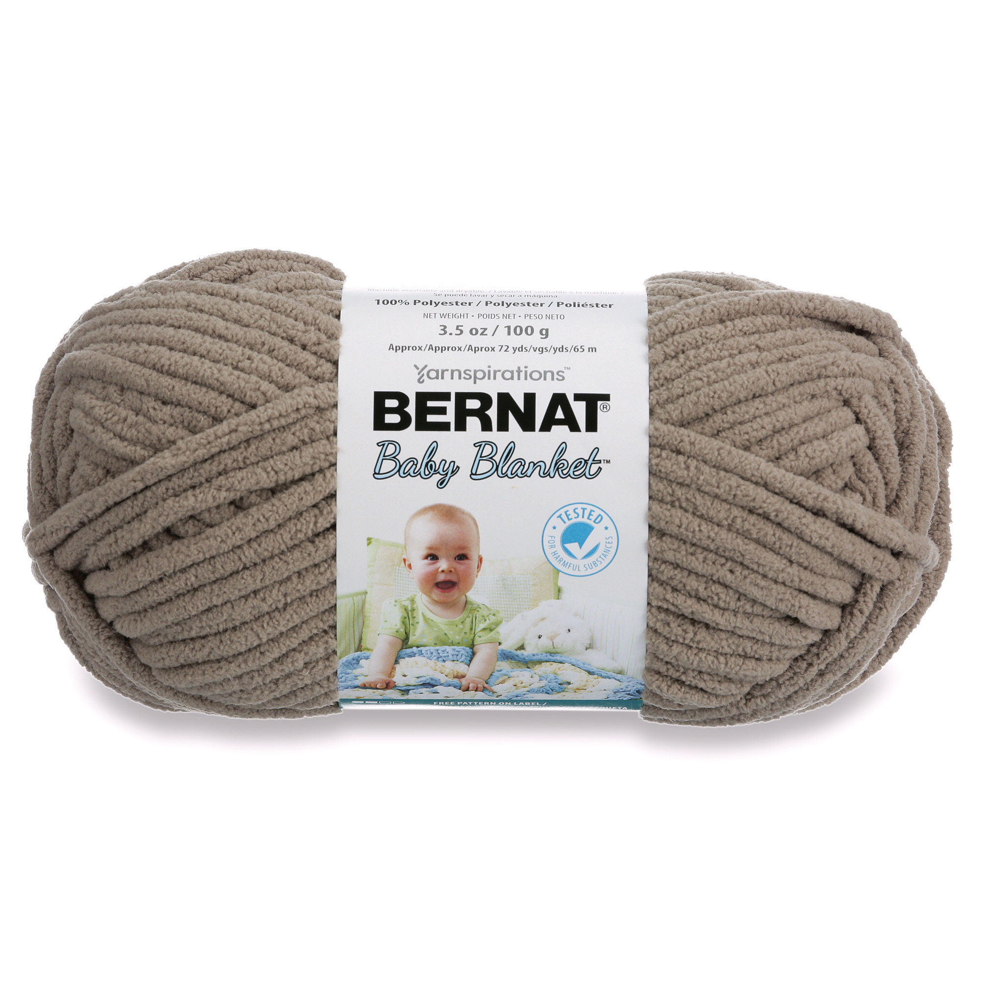 Bernat Baby Blanket Pink Blue Ombre Yarn, 1 Each