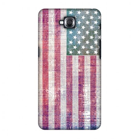 LG G Pro Lite D686 Case - USA flag- Wood texture, Hard Plastic Back Cover,  Slim Profile Cute Printed Designer Snap on Case with Screen Cleaning Kit