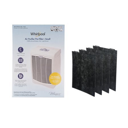 Whirlpool 8171433K Genuine Charcoal Pre-Filter 4-Pack, Air Purifier Charcoal Small Replacement Filter