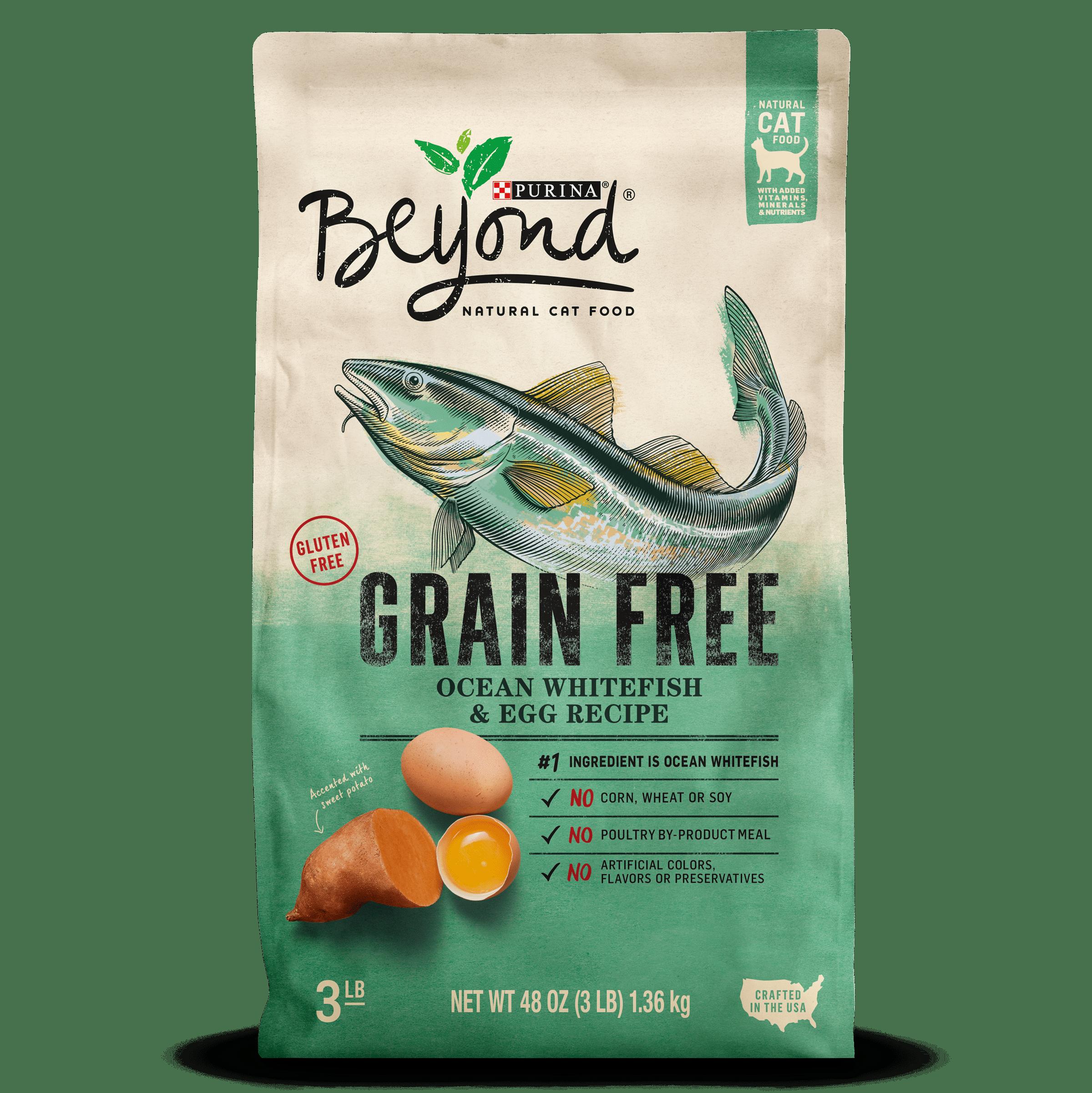 Purina Beyond Grain Free Ocean Whitefish & Egg Recipe Adult Dry Cat Food - 3 lb. Bag