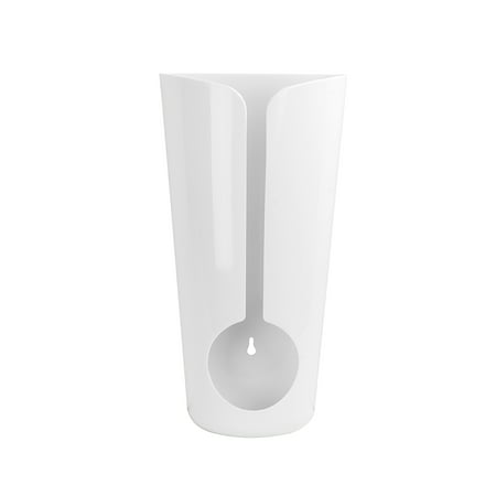 Spectrum Diversified Cabinet & Wall Mount Plastic Recycling Bag Holder, White, 33200