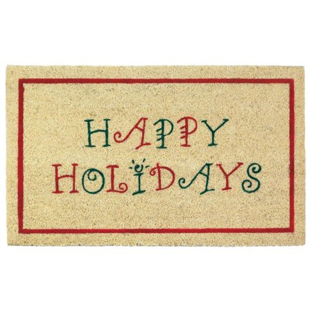 Coir Welcome Mat Contemporary Pvc Happy Holiday Door Mats