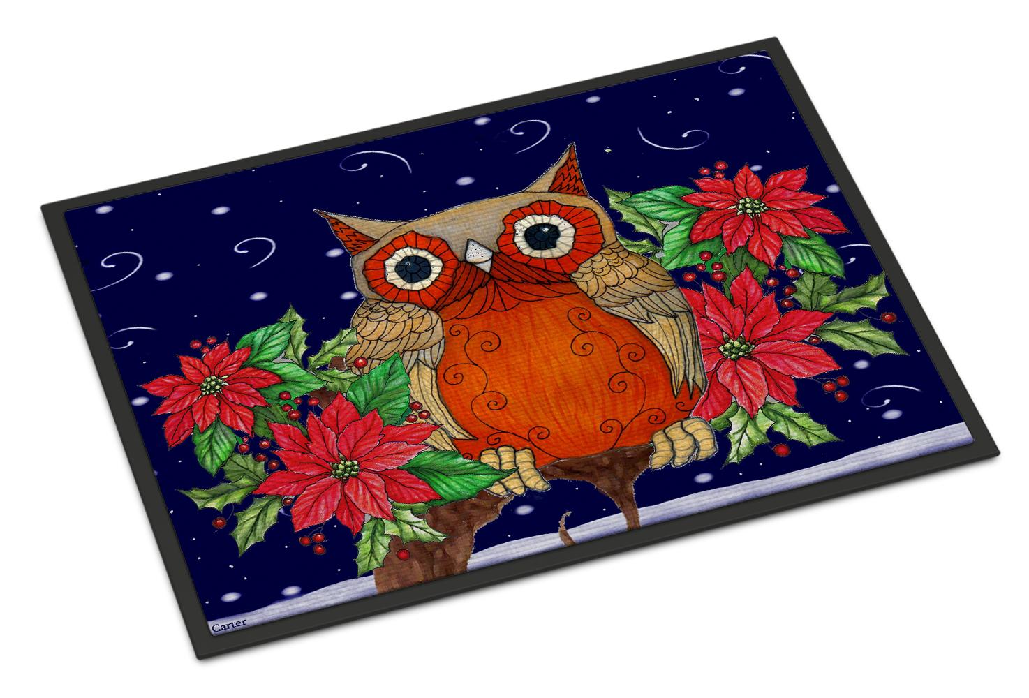 Multicolor Carolines Treasures Hootie Fall Owl Kitchen or Bath Mat 24 by 36