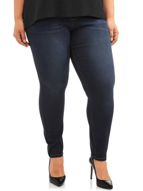 Terra & Sky Women's Plus Size Terra & Sky Pull on Knit Denim Pant