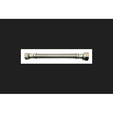Ace 3/8 in. Compression x 1/2 in. Dia. IP Stainless Steel Faucet ...