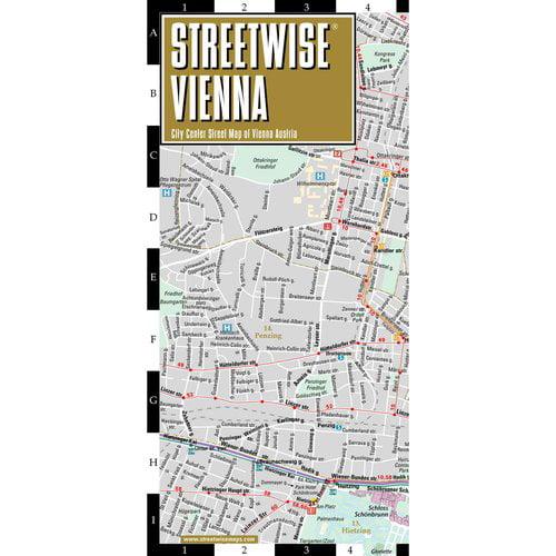 Streetwise Vienna City Center Street Map of Vienna Austria