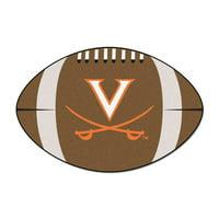 """Virginia Football Rug 20.5""""x32.5"""""""