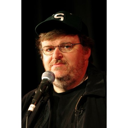 Michael Moore Discusses The Release Of His Documentary Fahrenheit 911 In Cambridge Ma During The 2004 Democratic National Convention July 27 2004