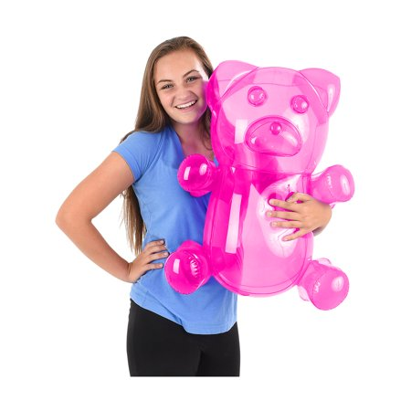 Pink Gummy Bears (Delicious Candy Large Pink Gummy Bear Animal Inflatable)