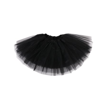 Simplicity Baby Cute Tulle Tutu Skirt for Dress Up & Fairy Costumes, Black