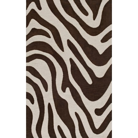 Dalyn Transitions Area Rugs - TR15 Transitional Casual Brown Zebra Animal Print Curves Swirls Rug Brown Transitional Area Rug