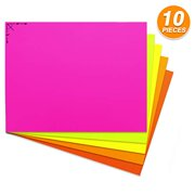 Emraw Poster Board Sturdy Office Multicolor Fluorescent Blanks Sheets Sign Scrapbooking Blank Graphic Display Board Durable for Arts and Crafts Projects Blank Board 5 per Pack (Pack of 2)