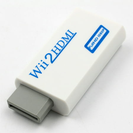 720P 1080P Full HD HDTV Wii to HDMI Video Converter Adaptor White