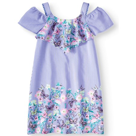 Overlay Border Print Dress (Little Girls, Big Girls & Big Girls - Maxi Dress For Little Girls