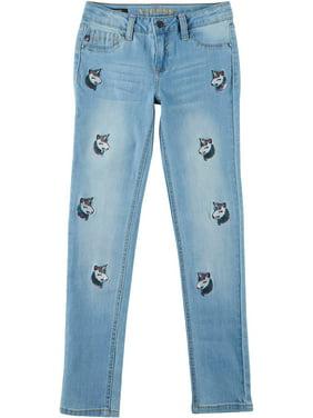 Vigoss Little Girls All Over Unicorn Denim Jeans 16W Short
