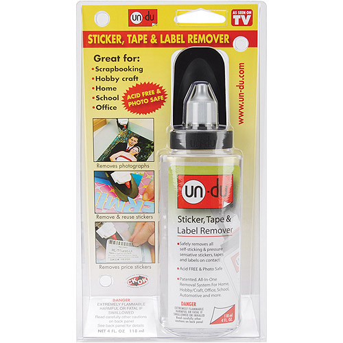 Pack of 4 4 - 4 Ounce Cannot Be Sold in California Tape and Label Remover un-du Original Formula Sticker