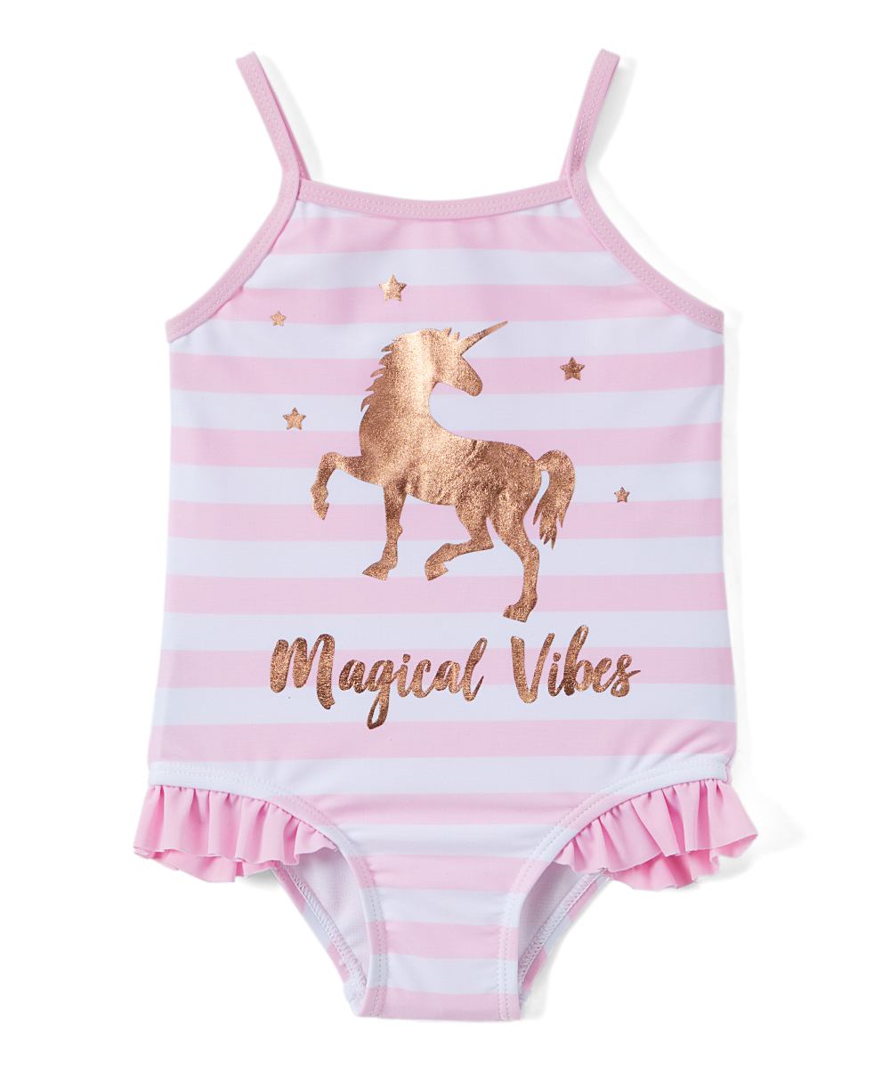 Unicorn One-Piece Swimsuit (Toddler and Infant Girls)