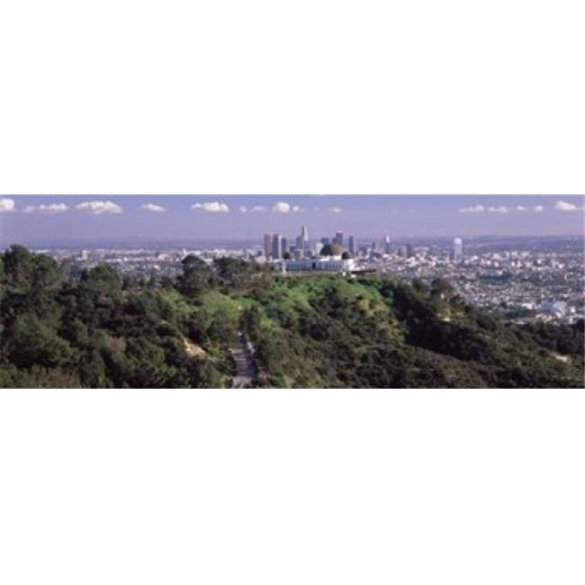 Panoramic Images PPI125061L Observatory on a hill with cityscape in the background  Griffith Park Observatory  Los Angeles  California  USA 2010 Poster Print by Panoramic Images - 36 x 12