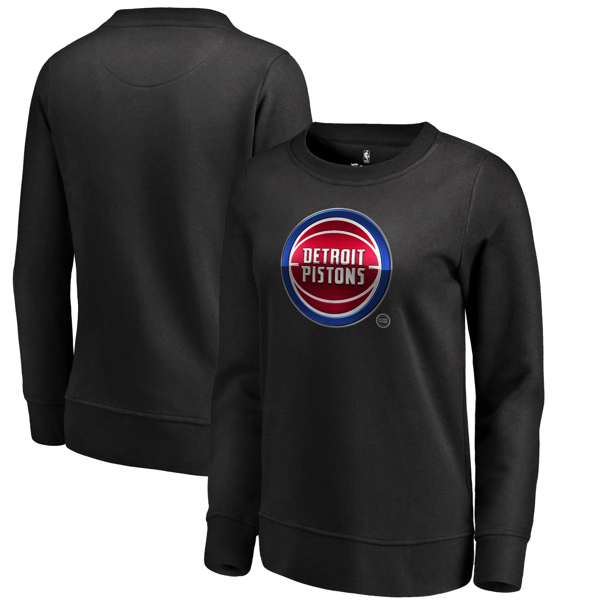 Detroit Pistons Fanatics Branded Women's Midnight Mascot Pullover Sweatshirt - Black