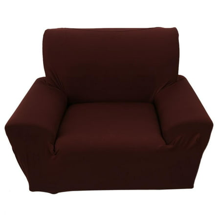 Washed Black Colour - 1 Single Seater Solid Pure Colour Stretch Slipcover Chair Loveseat Sofa Couch Protect Elastic Cover,Stretch Slipcover