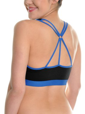 6f5aefa3e3efb Product Image Angelina Wired Cotton Sports Bra with Strappy Back (3-Pack)