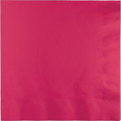 Creative Converting Hot Magenta Beverage Napkin, 3 Ply, 50 ct