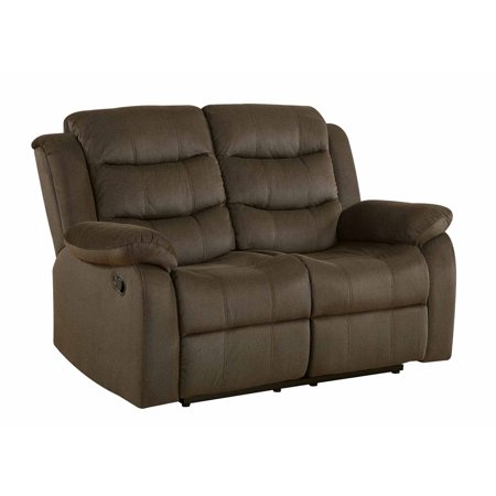 Coaster Home Furnishings 601882 Two-Tone Rodman Motion Collection Motion Loveseat, Chocolate Chocolate Reclining Sofa