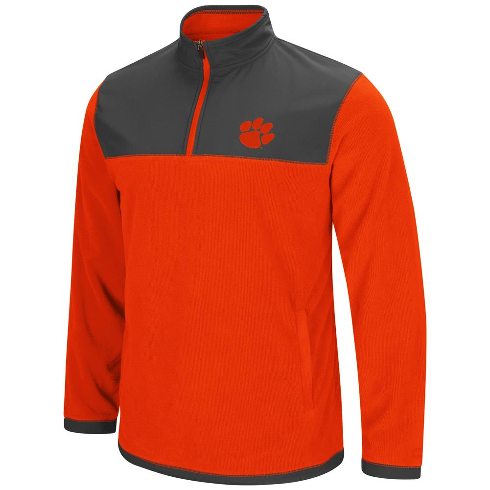 Clemson University Tigers Men's Full Zip Fleece Jacket by Colosseum